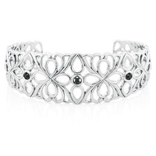 Online Exclusive - Cuff with Enhanced Black Diamonds in Sterling Silver
