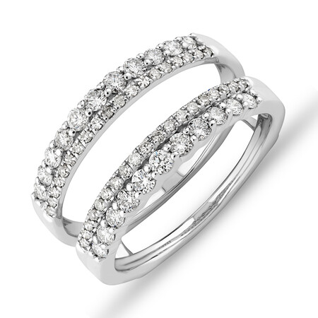 Enhancer Ring with 0.70 Carat TW of Diamonds in 14ct White Gold