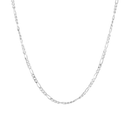 50cm Figaro Chain In Sterling Silver