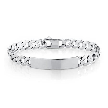 """21cm (8.5"""") Identity Bracelet in Sterling Silver"""