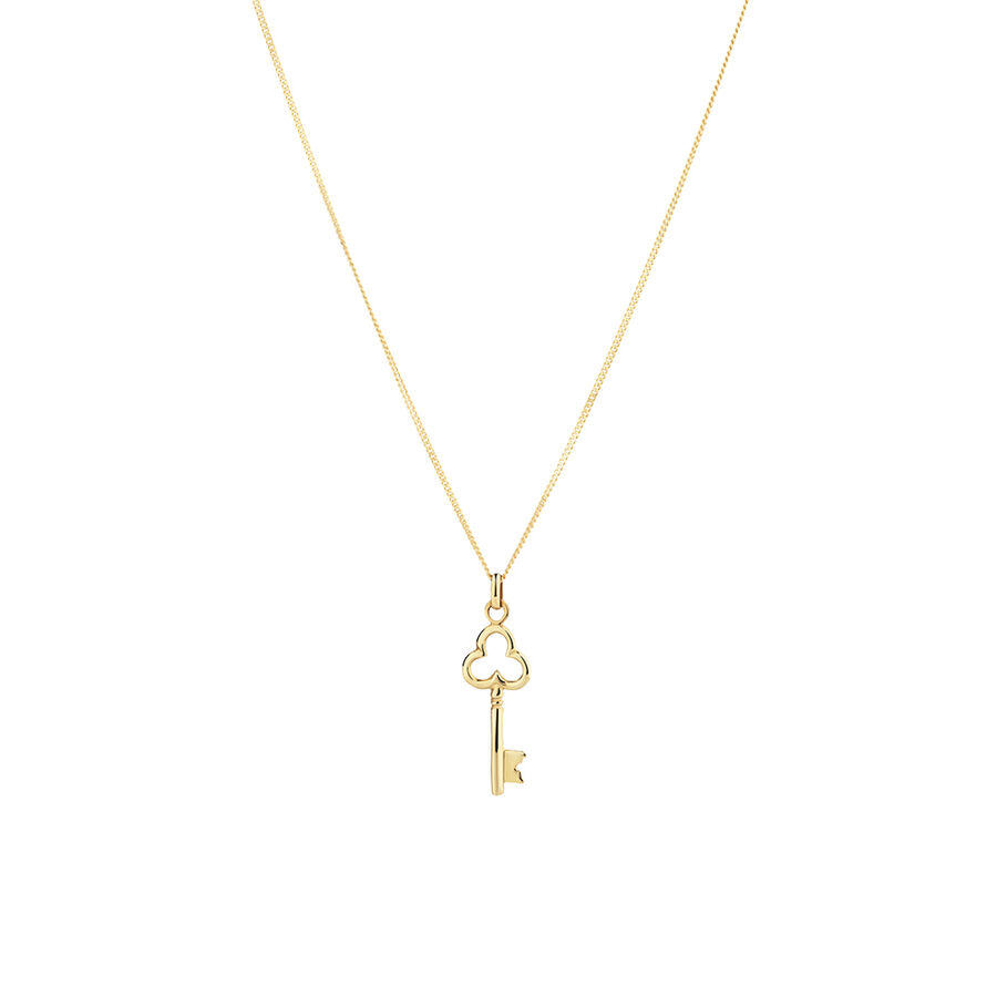 Polished Key Pendant in 10ct Yellow Gold