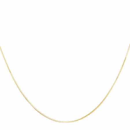 "45cm (18"") Box Chain in 10ct Yellow Gold"
