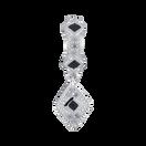Black Cubic Zirconia & Sterling Silver Art Deco Drop Charm