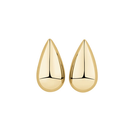 Teardrop Stud Earrings in 10ct Yellow Gold