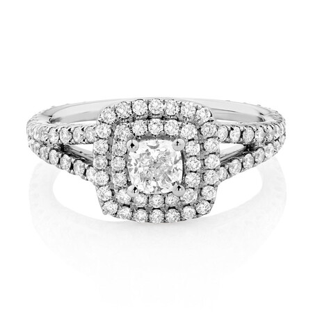 Sir Michael Hill Designer GrandArpeggio Engagement Ring with 1.45 Carat TW of Diamonds in 14ct White Gold