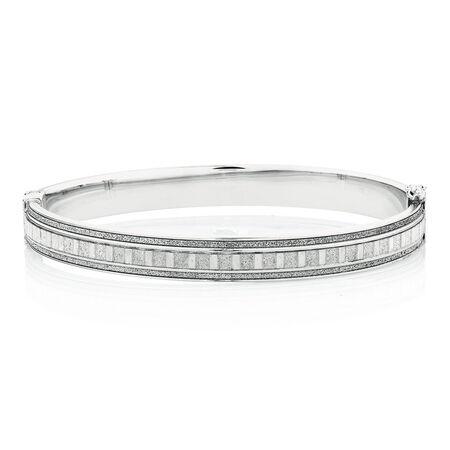 Glitter Bangle in Sterling Silver