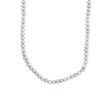 Online Exclusive - Pendant with Grey Cultured Freshwater Pearl in Sterling Silver