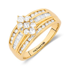 Online Exclusive - Engagement Ring with 0.95 Carat TW of Diamonds in 14ct Yellow Gold
