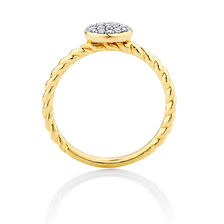 0.15 Carat TW Diamond Stacker Ring