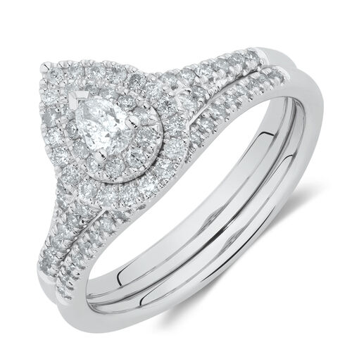 Evermore Bridal Set with 0.60 Carat TW of Diamonds in 10ct White Gold 3cc15e38e