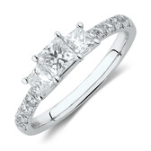 Evermore Engagement Ring with 1 Carat TW of Diamonds in 14ct White Gold
