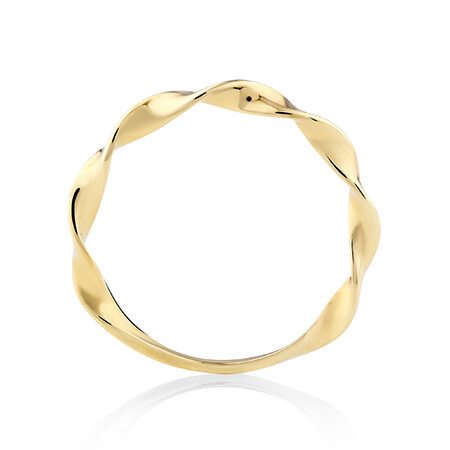 Twist Stacker Ring in 10ct Yellow Gold