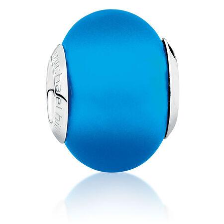 Bright Blue Matte Murano Glass Charm
