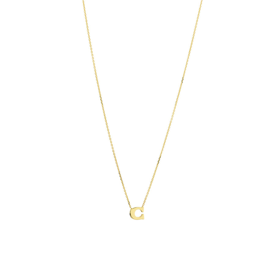 """""""C"""" Initial Necklace in 10ct Yellow Gold"""