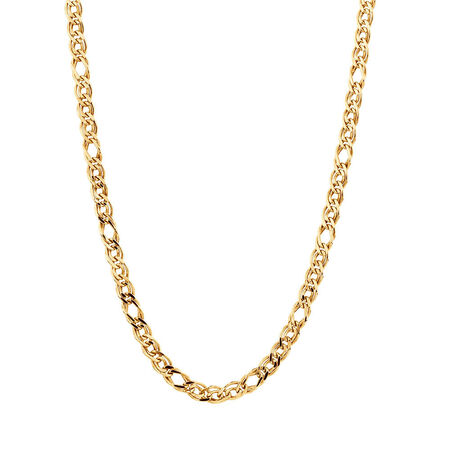 "45cm (18"") Double Oval Curb Chain in 10ct Yellow Gold"