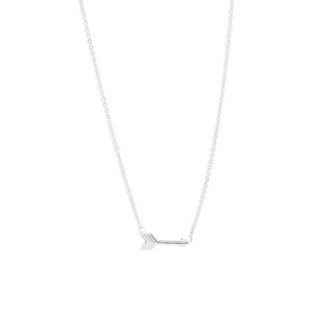 46cm Arrow Necklace In Sterling Silver