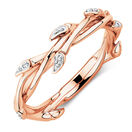 Willow Ring with Diamonds in 10 Rose Gold