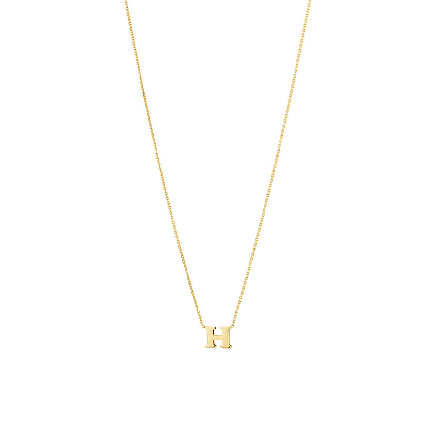 """""""H"""" Initial Necklace in 10ct Yellow Gold"""