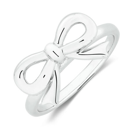 Bow Ring in Sterling Silver