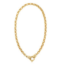 "45cm (18"") Diamond Set Belcher Chain in 10ct Yellow Gold"