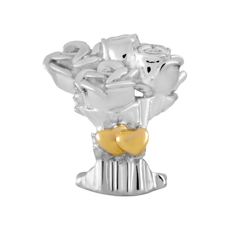 10ct Yellow Gold & Sterling Silver Bouquet Charm