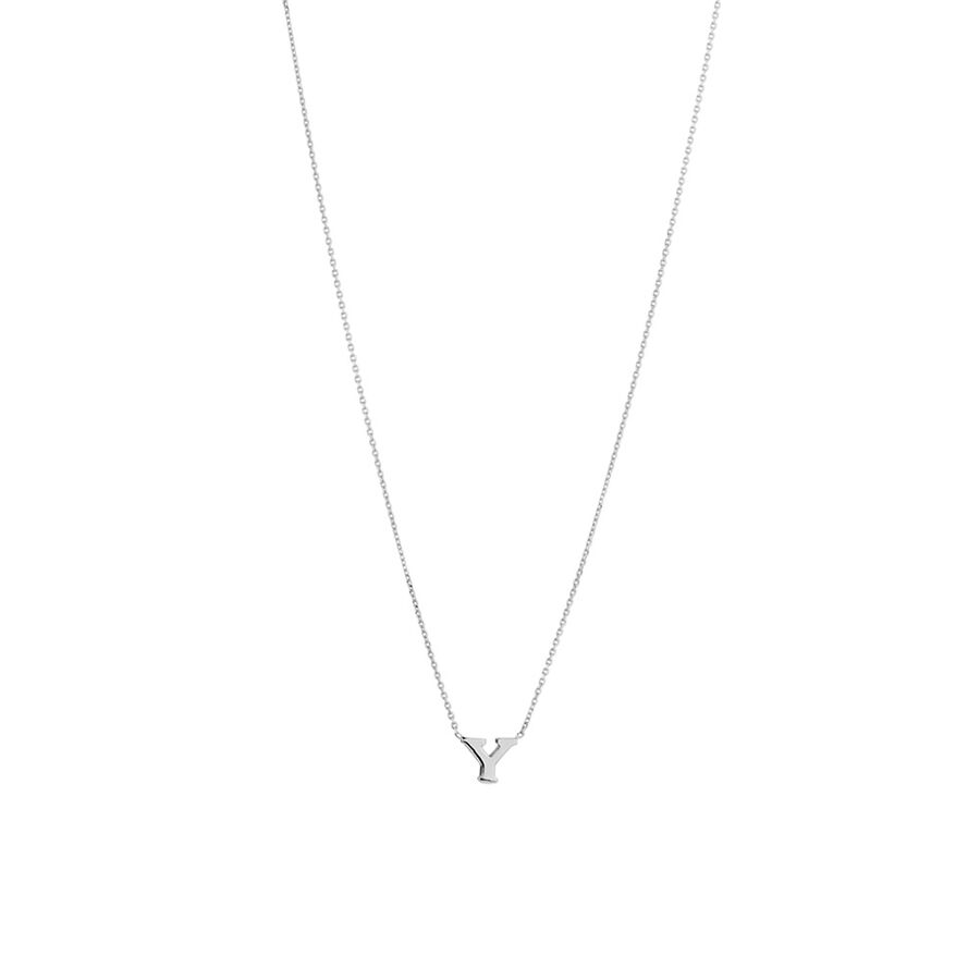 'Y' Initial Necklace in Sterling Silver