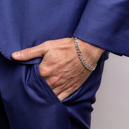"21cm (8.5"") Curb Bracelet in Sterling Silver"