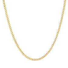 """55cm (22"""") Hollow Curb Chain in 10ct Yellow Gold"""