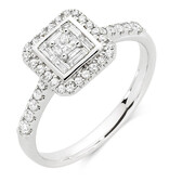 Engagement Ring with 1/2 Carat TW of Diamonds in 18ct White Gold