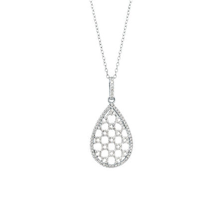 Fancy Pear Pendant with Cubic Zirconia in Sterling Silver