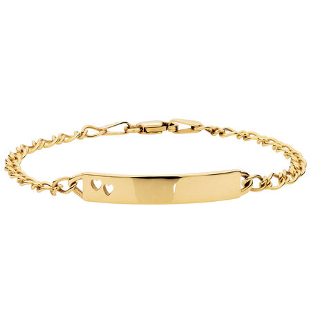 "14cm (6"") Baby Identity Bracelet in 10ct Yellow Gold"
