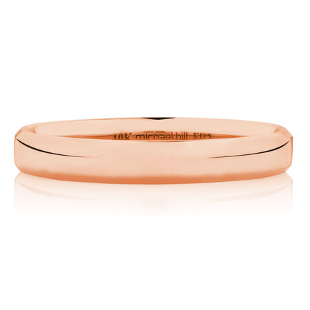 3mm Wedding Band in 10ct Rose Gold