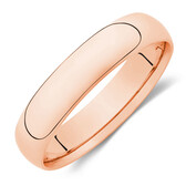 5mm Wedding Band in 10ct Rose Gold
