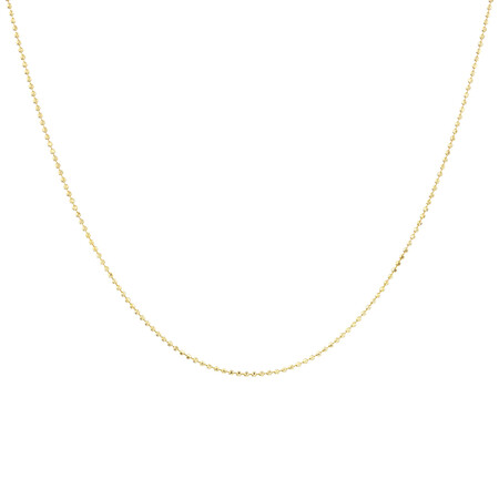 50cm Bead Chain in 10ct Yellow Gold