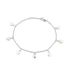 Bracelet with Cultured Freshwater Pearls in Sterling Silver