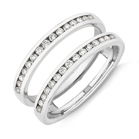 Evermore Enhancer Ring with 0.40 Carat TW Diamonds in 14ct White Gold