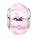 Pale Pink Faceted Glass Charm