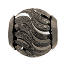 Sterling Silver Patterned Wave Charm