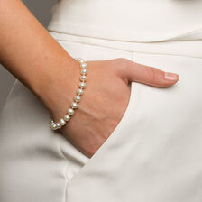 Bracelet with Cultured Freshwater Pearl in 10ct Yellow Gold