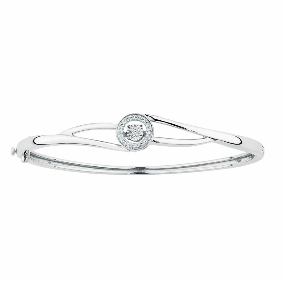 Everlight Bangle with 0.15 Carat TW of Diamonds in Sterling Silver