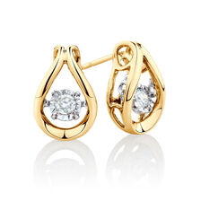 Everlight Stud Earrings with 0.16 Carat TW of Diamonds in 10ct Yellow Gold