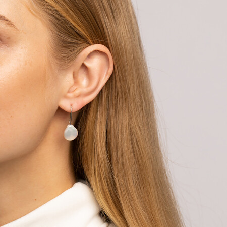 Drop Earrings with Cultured Freshwater Pearls in Sterling Silver
