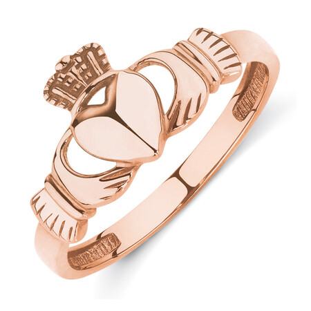 Claddagh Ring in 10ct Rose Gold