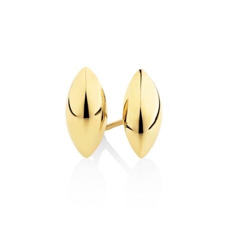 Marquise Stud Earrings In 10ct Yellow Gold