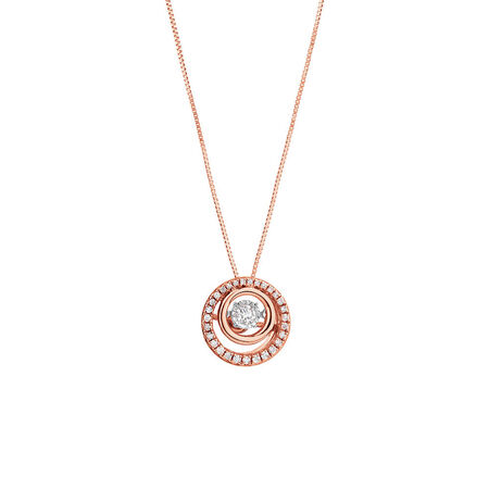 Everlight Pendant with 1/5 Carat TW of Diamonds in 10ct Rose Gold