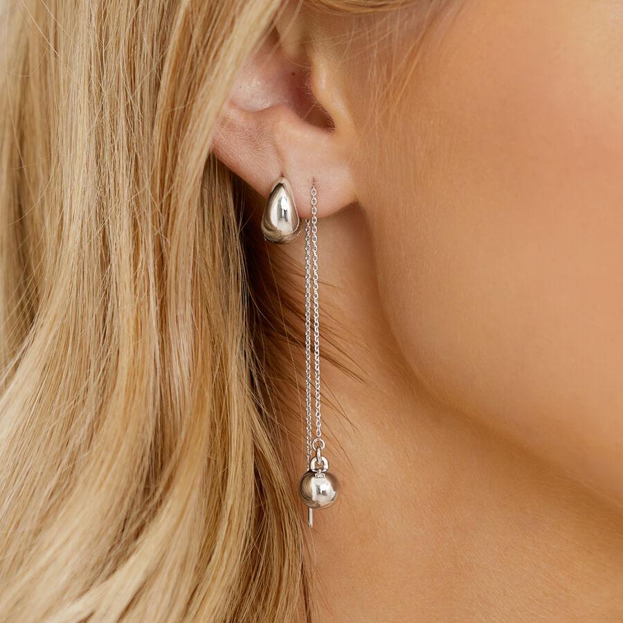 Sculpture Thread Earrings in Sterling Silver