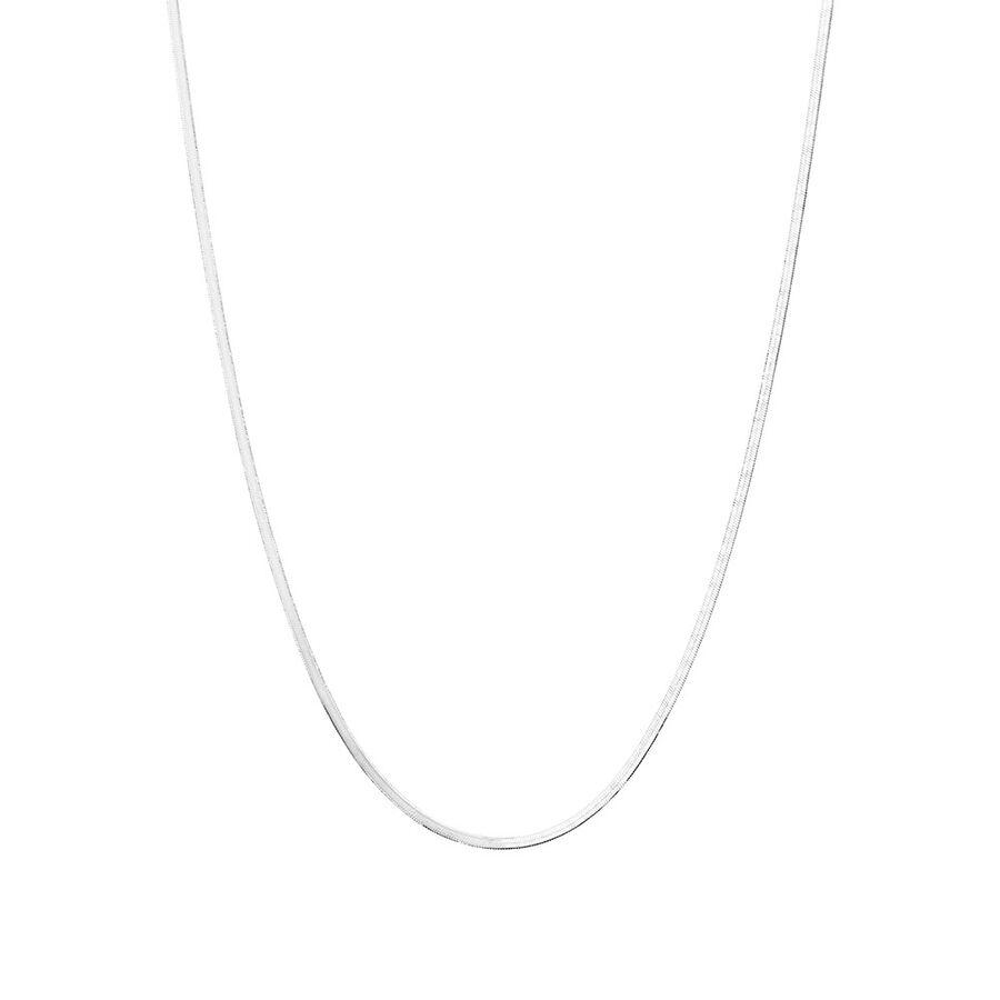 "Adjustable 45-50cm (18-20"") Herringbone Snake Chain in Sterling Silver"
