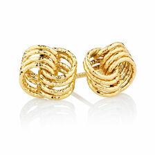 Stud Earrings in 10ct Yellow Gold