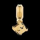 Diamond Set & 10ct Yellow Gold 'H' Charm