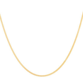 """55cm (21.5"""") Double Curb Chain in 10ct Yellow Gold"""